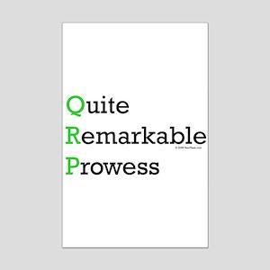 "HamTees.com ""Quite Remarkable Prowess"" Mini Poste"