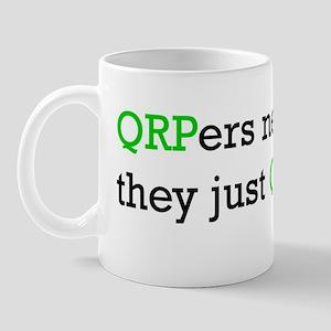 """HamTees.com """"QRPers Never Die..."""" Mug"""