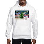 Xmas Magic & 2 Westies Hooded Sweatshirt