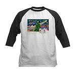 Xmas Magic & 2 Westies Kids Baseball Jersey