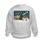 Xmas Magic & 2 Westies Kids Sweatshirt