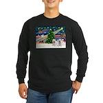 Xmas Magic & 2 Westies Long Sleeve Dark T-Shirt