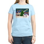 Xmas Magic & 2 Westies Women's Light T-Shirt