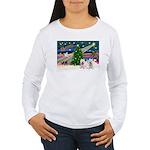 Xmas Magic & 2 Westies Women's Long Sleeve T-Shirt