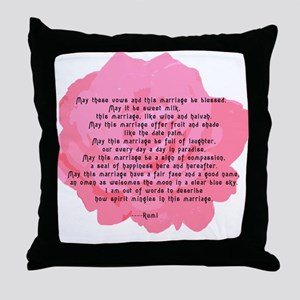 RUMI Poem Wedding Blessing Throw Pillow