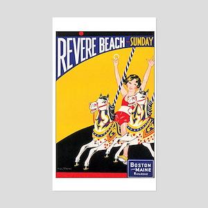 Revere Beach Massachusetts Rectangle Sticker
