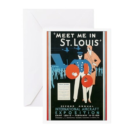 ST. LOUIS MISSOURI Greeting Cards (Pk of 10)