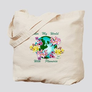 Plumeria World Tote Bag