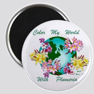 Plumeria World Magnet