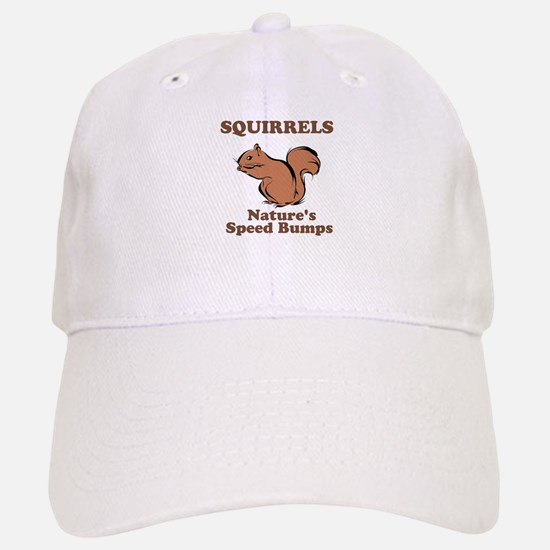 Squirrels Natures Speed Bumps Baseball Baseball Cap