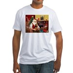 Santa's Welsh Terrier Fitted T-Shirt