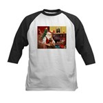 Santa's Welsh Terrier Kids Baseball Jersey