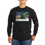 Xmas Magic & Corgi Long Sleeve Dark T-Shirt