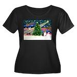 Xmas Magic & Corgi Women's Plus Size Scoop Neck Da