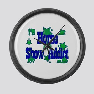 Horse Show Addict Large Wall Clock