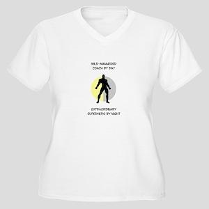 Coaching Superhero Women's Plus Size V-Neck T-Shir