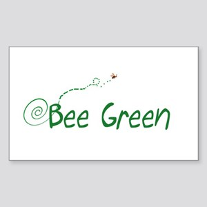 BEE GREEN Rectangle Sticker