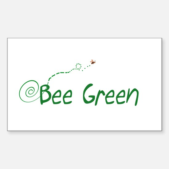 BEE GREEN Rectangle Decal