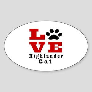 Love Highlander Cats Sticker (Oval)
