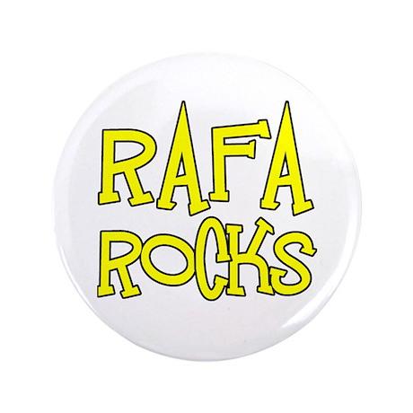 "Rafa Rocks Tennis Design 3.5"" Button (100 pack)"