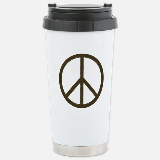 Cool Vintage Peace Sign Stainless Steel Travel Mug