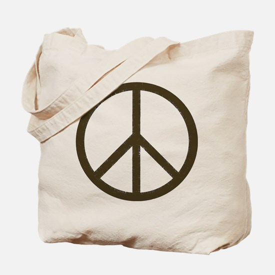 Cool Vintage Peace Sign Tote Bag