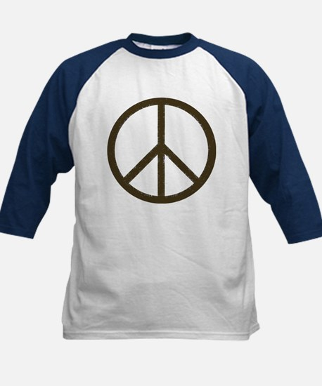 Cool Vintage Peace Sign Kids Baseball Jersey