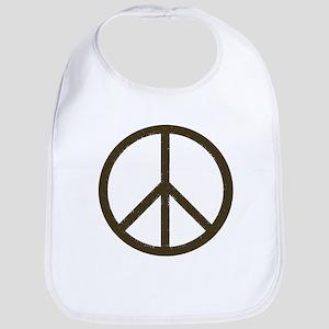 Cool Vintage Peace Sign Bib