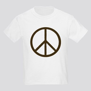 Cool Vintage Peace Sign Kids Light T-Shirt