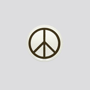 Cool Vintage Peace Sign Mini Button