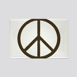 Cool Vintage Peace Sign Rectangle Magnet