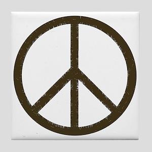 Cool Vintage Peace Sign Tile Coaster