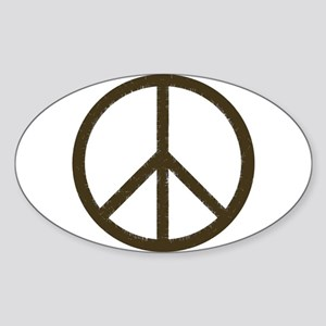 Cool Vintage Peace Sign Oval Sticker