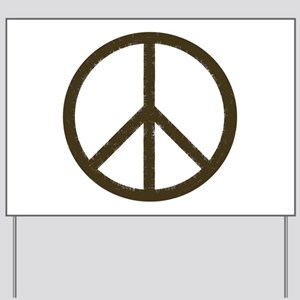 Cool Vintage Peace Sign Yard Sign