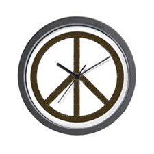 Cool Vintage Peace Sign Wall Clock