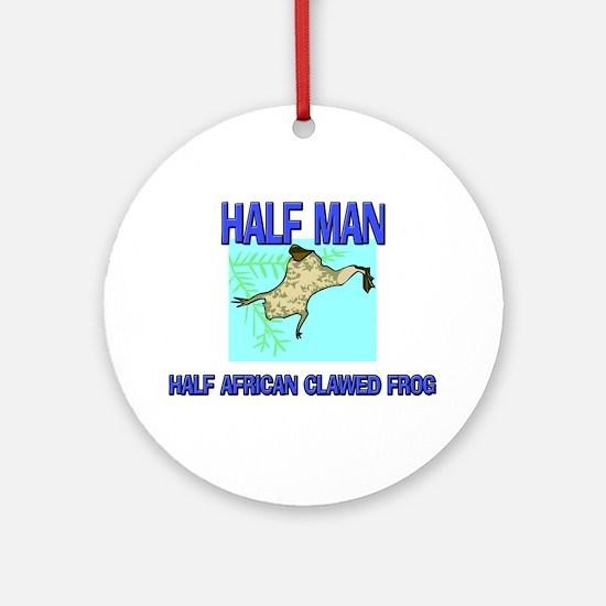 Half Man Half African Clawed Frog Ornament (Round)