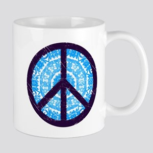 Tie-dye Peace Sign Mug