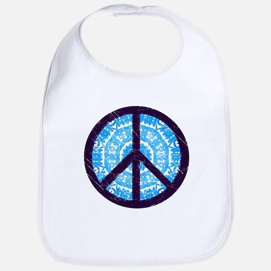 Tie-dye Peace Sign Bib