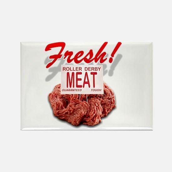 Fresh Roller Derby Meat Rectangle Magnet