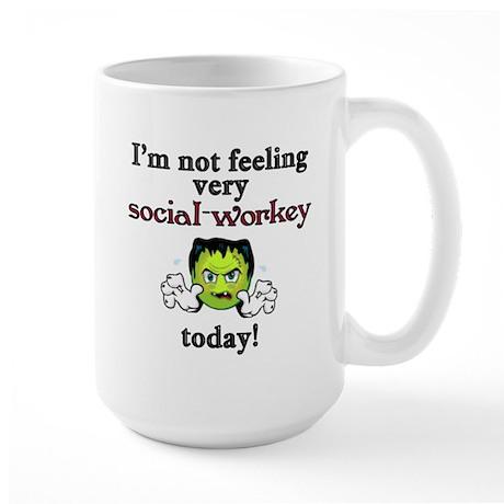 Not Social-Workey Today Large Mug