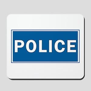Police Theme Mousepad