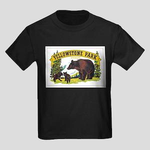 YELLOWSTONE PARK Kids Dark T-Shirt