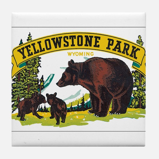 YELLOWSTONE PARK Tile Coaster