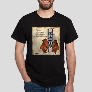 Gutenberg's Desktop Publishing Dark T-Shirt