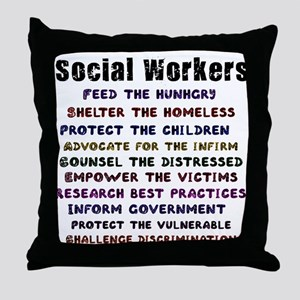 Social Workers Work! Throw Pillow
