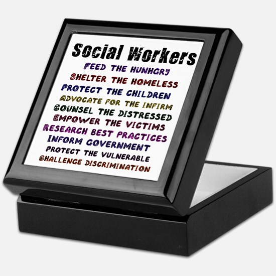 Social Workers Work! Keepsake Box