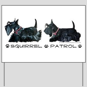Scottie Squirrel Patrol Terri Yard Sign