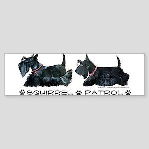Scottie Squirrel Patrol Terri Bumper Sticker