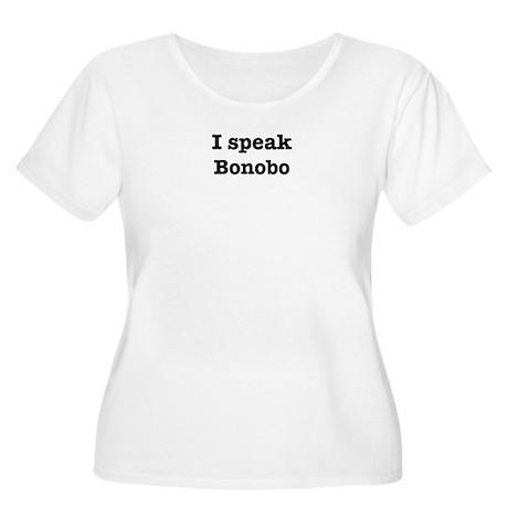 I speak Bonobo Women's Plus Size Scoop Neck T-Shir