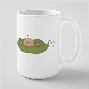 Caucasian Single Baby Large Mug